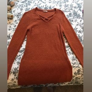 Orange Long-Sleeve Sweater by Mystree